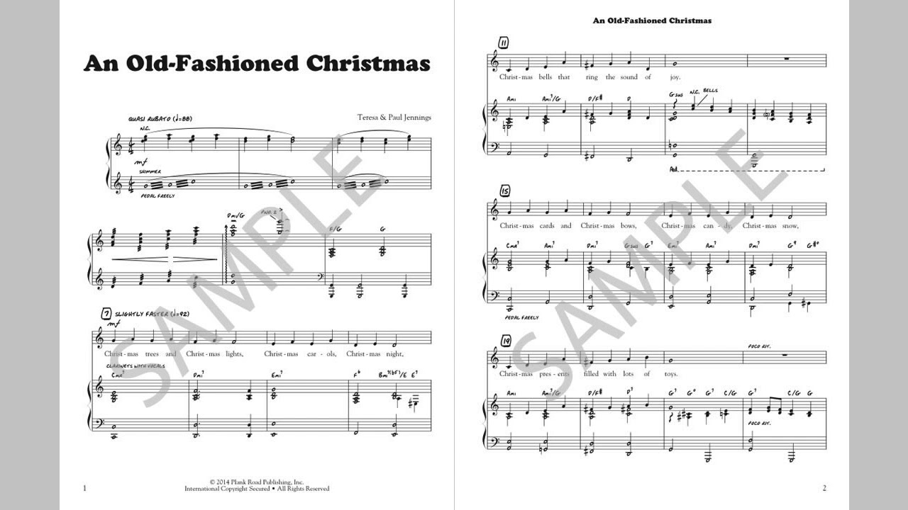 An Old-Fashioned Christmas - MusicK8.com Singles Reproducible Kit ...