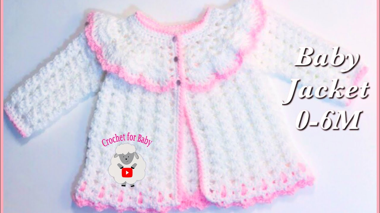 How to crochet easy baby sweater cardigan jacket for Easter