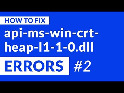 api-ms-win-crt-heap-l1-1-0.dll Missing Error   2020   Fix #2