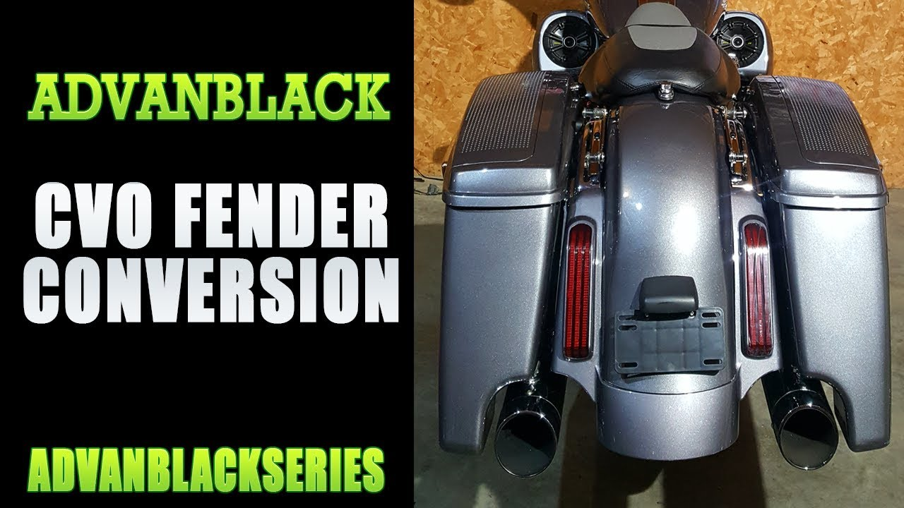 cvo rear fender conversion by advanblack for harley davidson touring rh youtube com Harley Softail Wiring Harness Police Harley-Davidson Wiring Harness