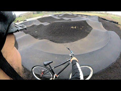 A New Asphalt Pump Track At The Superior Bike Park On My