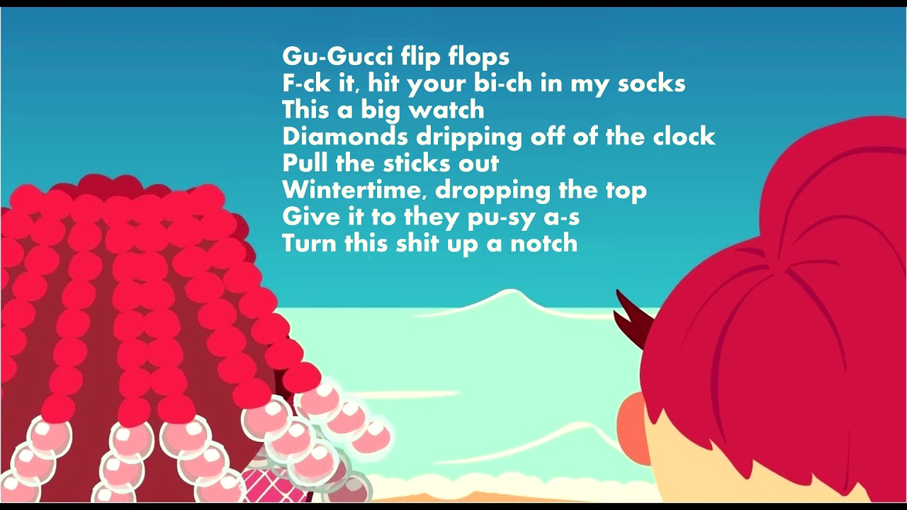 2968265c5 Bhad Bhabie ft. Lil Yachty – Gucci Flip Flops (Lyrics Karaoke) - YouTube