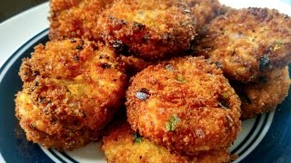 Rice Cutlet Recipe | Leftover Rice Recipes |  Easy Evening Snacks Recipe For Kids