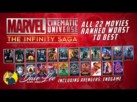 Marvel MCU INFINITY SAGA - All 22 Movies Ranked Worst to Best (including AVENGERS: ENDGAME)