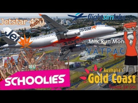 FSlabs A320 on Milkrun. Sydney to Gold Coast on Vatsim (P3D)
