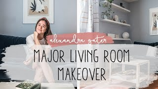 THIS SMALL RENTAL LIVING ROOM GOT A MAJOR DIY MAKEOVER   7 WAYS TO ADD STYLE TO YOUR LIVING ROOM