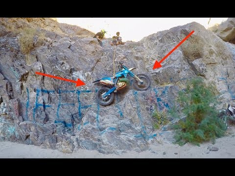 RAPPELLING WITH MY DIRT BIKE!!
