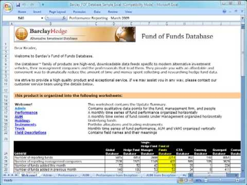 Hedge Fund of Funds Database