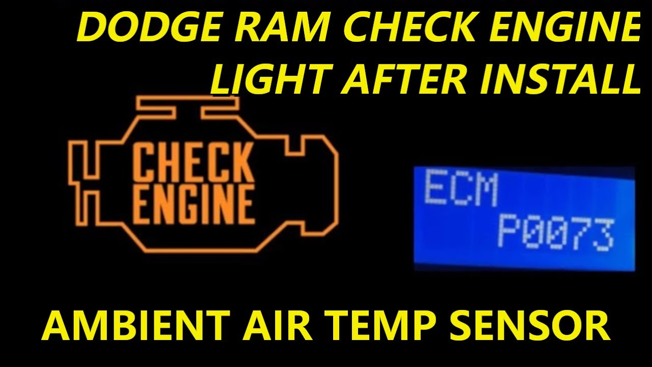 small resolution of dodge ram check engine light after install of tow mirrors ambient air sensor harness