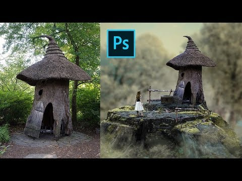 Photoshop Tutorial Manipulation - Small House | Blur Background