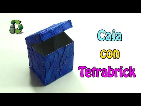 108 manualidades caja con tetrabrick reciclaje - Manualidades con cajas ...