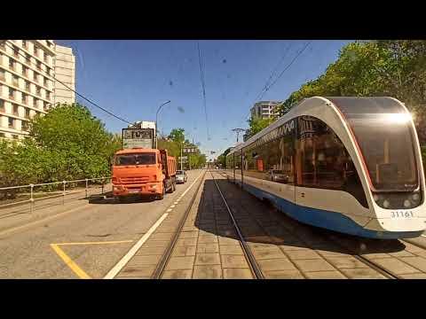 . Москва. Поездка в трамвае. 11 мая 2020 г.