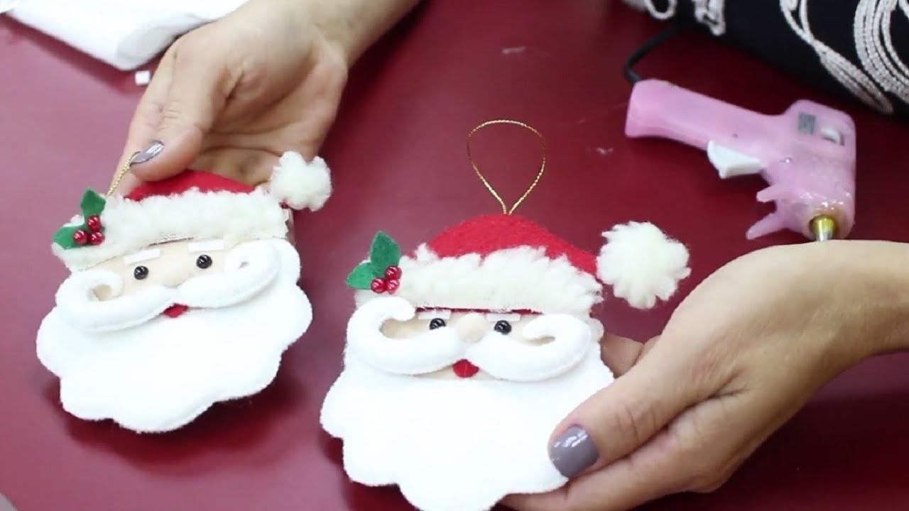 Faça E Venda Enfeite De Papai Noel Usando Feltro