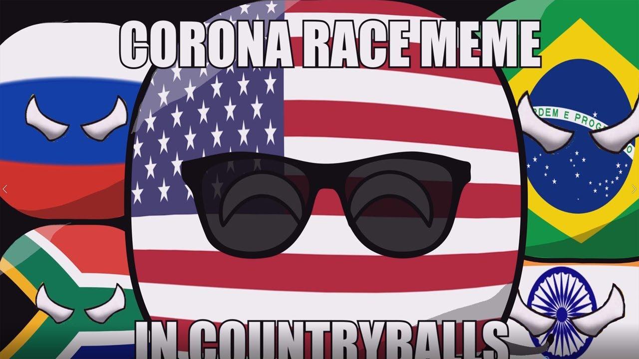 Countryballs Mini - Corona Race Meme (V3 India)