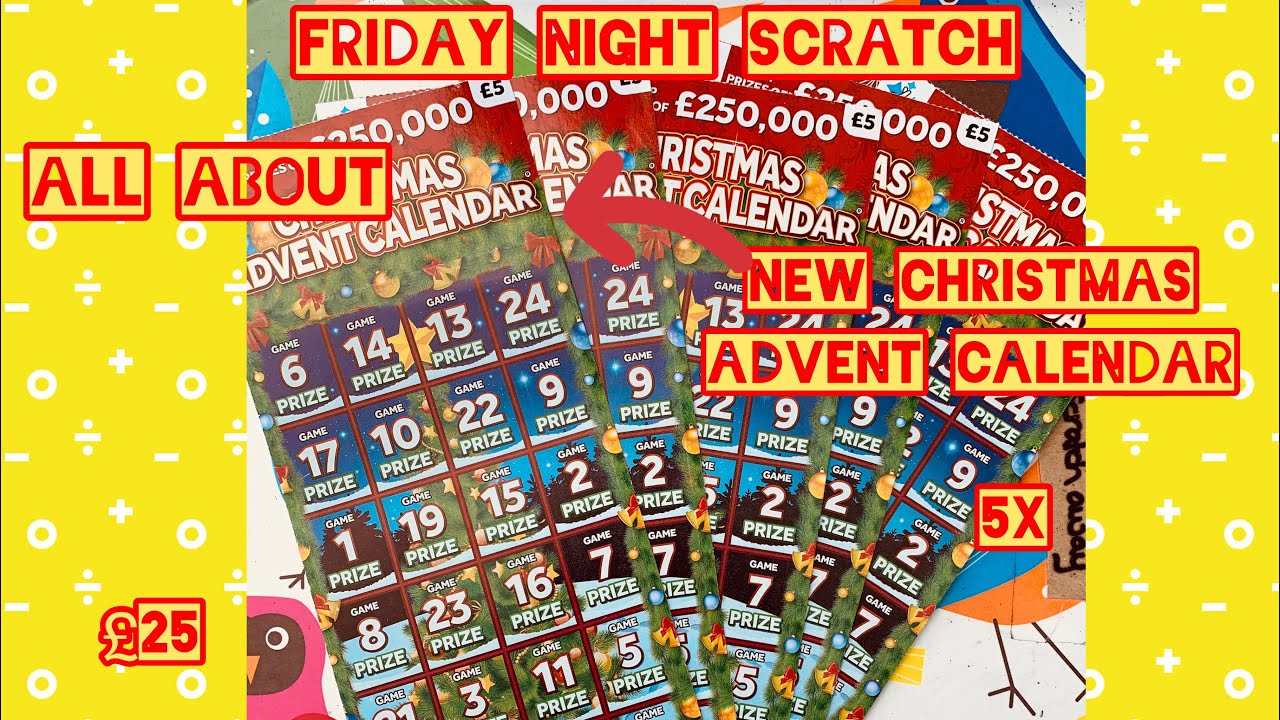 advent calendar scratch cards