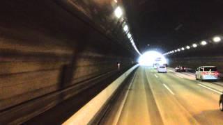 【渋滞突入】高速バス(東名) スーパーライナー20号 前面展望 車窓 足柄SA→山北(付近)