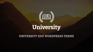 University - WordPress Theme - One click install sample data and import slider demo