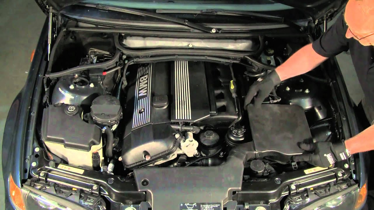 under the hood of a bmw 3 series 99 thru 05 youtube rh youtube com 2007 BMW 328 Vacuum Diagram 2000 bmw 323i engine bay diagram