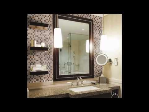 Creative Bathroom sink backsplash decorating ideas