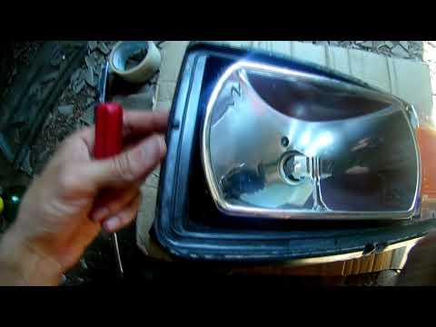 Как поменять стекло на фаре ваз 2107