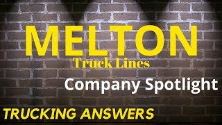Melton Truck Lines Flatbed