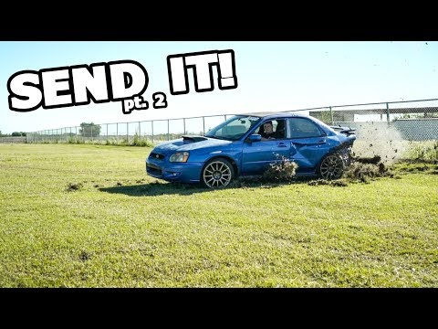 OFF-ROADING the WRECKED WRX! (Rebuild Pt. 2)
