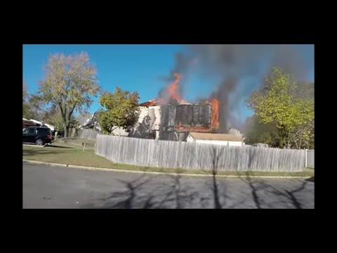 (RIDE ALONG) Rescue 7 Heavy Fire Showing 2 Alarm