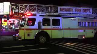 newark fire department on scene working on smoke condition in basement of commercial establishment