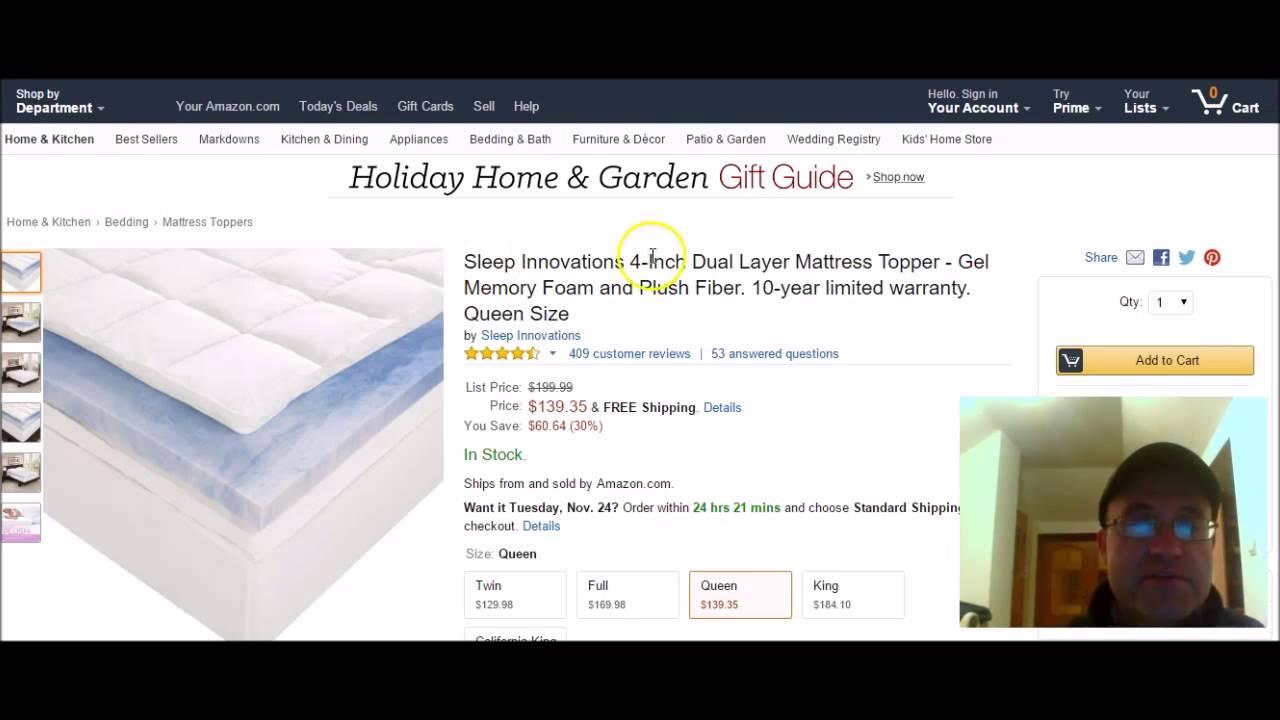 home design memory foam mattress pad best memory foam mattress topper youtube
