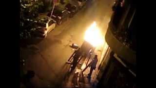 Εξάρχεια 6 Δεκέμβρη 2008 λίγα λεπτά μετά τη δολοφονία του Αλέξανδρου Γρηγορόπουλου