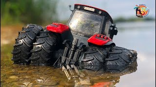 BRUDER Tractor MUD trouble. McCormick goes over the water!