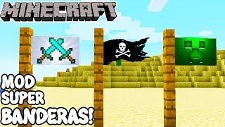 Minecraft 1.11.2 MOD SUPER BANDERAS! Flagged Mod Español!