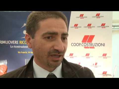 Cerimonia apertura Cantieri con il Sindaco Cialente il presidente ANCE Frattsle - Servizio Aquila TV