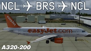 [P3D] Newcastle to Bristol to Newcastle | EZY569/570 | easyJet | Aerosoft Airbus A320 | IVAO
