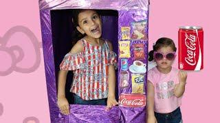 سوار تبيع في ماكينة الحلويات !!