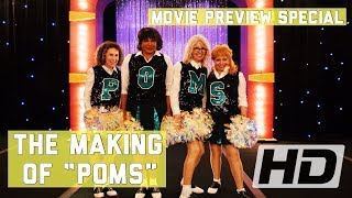 Poms (2019) The Making Of Diane Keaton's Movie   Behind The Scenes, Cast Interviews