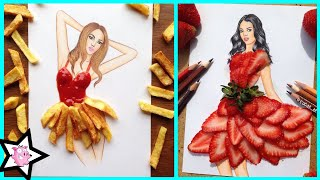 Armenian Fashion Illustrator Creates Stunning Dresses From Everyday Objects
