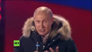 Putin bedankt sich bei Wählern und Anhängern (Deutsche Untertitel) 18.03.2018