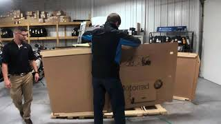 1st 2019 BMW R1250RT Option 719 in Blue Planet Metallic Uncrating by Nate @ Frontline