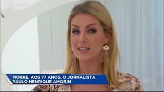 Hoje em Dia relembra visita de Paulo Henrique Amorim à casa de Ana Hickmann