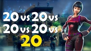 THE MOST INTENSE & EXCITING 20 VS 20 EVER | SUPER CLUTCH - ( Fortnite Battle Royale)