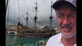 Старый пиратский корабль в Генуя. Испанский галеон 17 век | КАПИТАН КОСТЯ