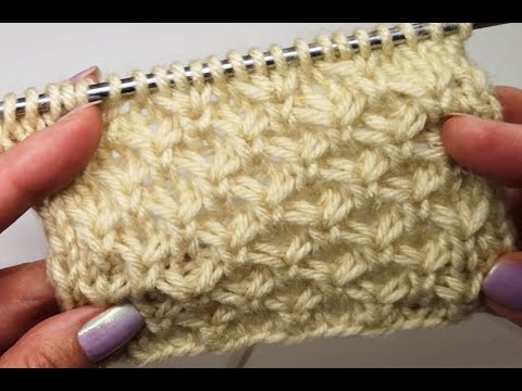 №60 Чудесный плотный узор спицами Wonderful Tight Knitting Pattern