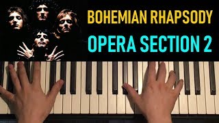 HOW TO PLAY - Bohemian Rhapsody - by Queen (Piano Tutorial Lesson) [PART 5]