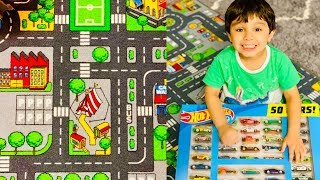 Playtime with Hot Wheels on Kids Carpet Play Mat Rug
