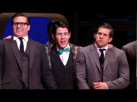 "Nick Jonas in HOW TO SUCCEED on Broadway's ""Brotherhood of Man"""