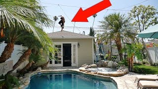 CRAZIEST BACKYARD TRAMPOLINE SETUP EVER!