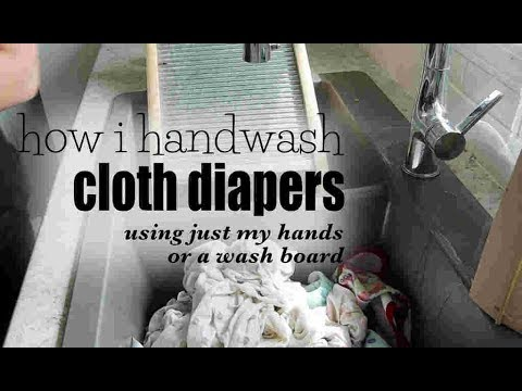 How I Hand Wash Cloth Diapers