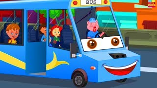 join the SCHOOLIES on the wheels on the bus nursery rhymes song for children by Kids Channel