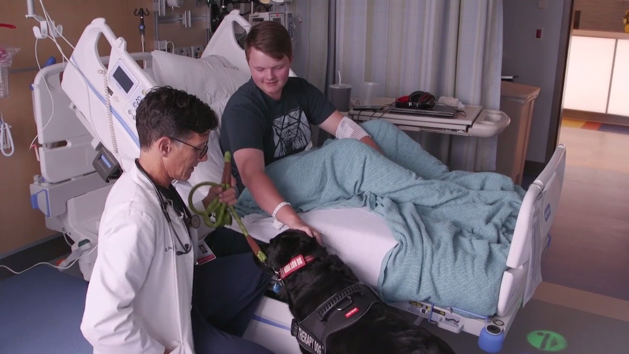Posey the Therapy Dog Makes Herself at Home in CPMC's New